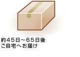 After about 30〜50 days, we delivery the products your home.